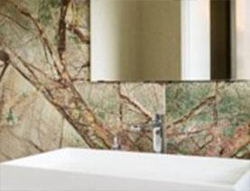 bagno marmo verde forrest green