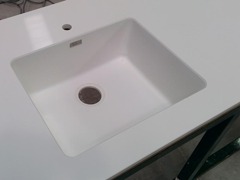 top cucina vasca in agglomerato di quarzo stone italiana u-design