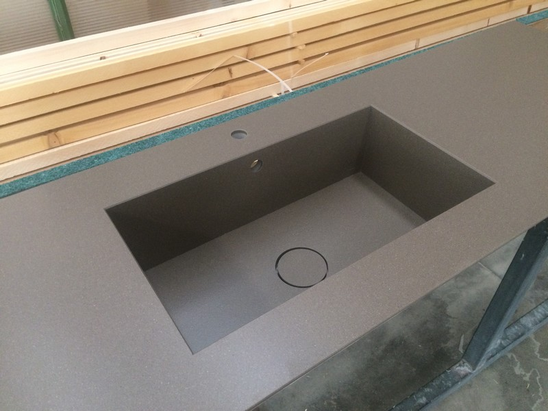 top cucina vasca integrata a box con copripiletta