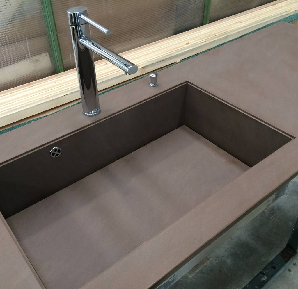 top cucina k-proof con vasca integrata