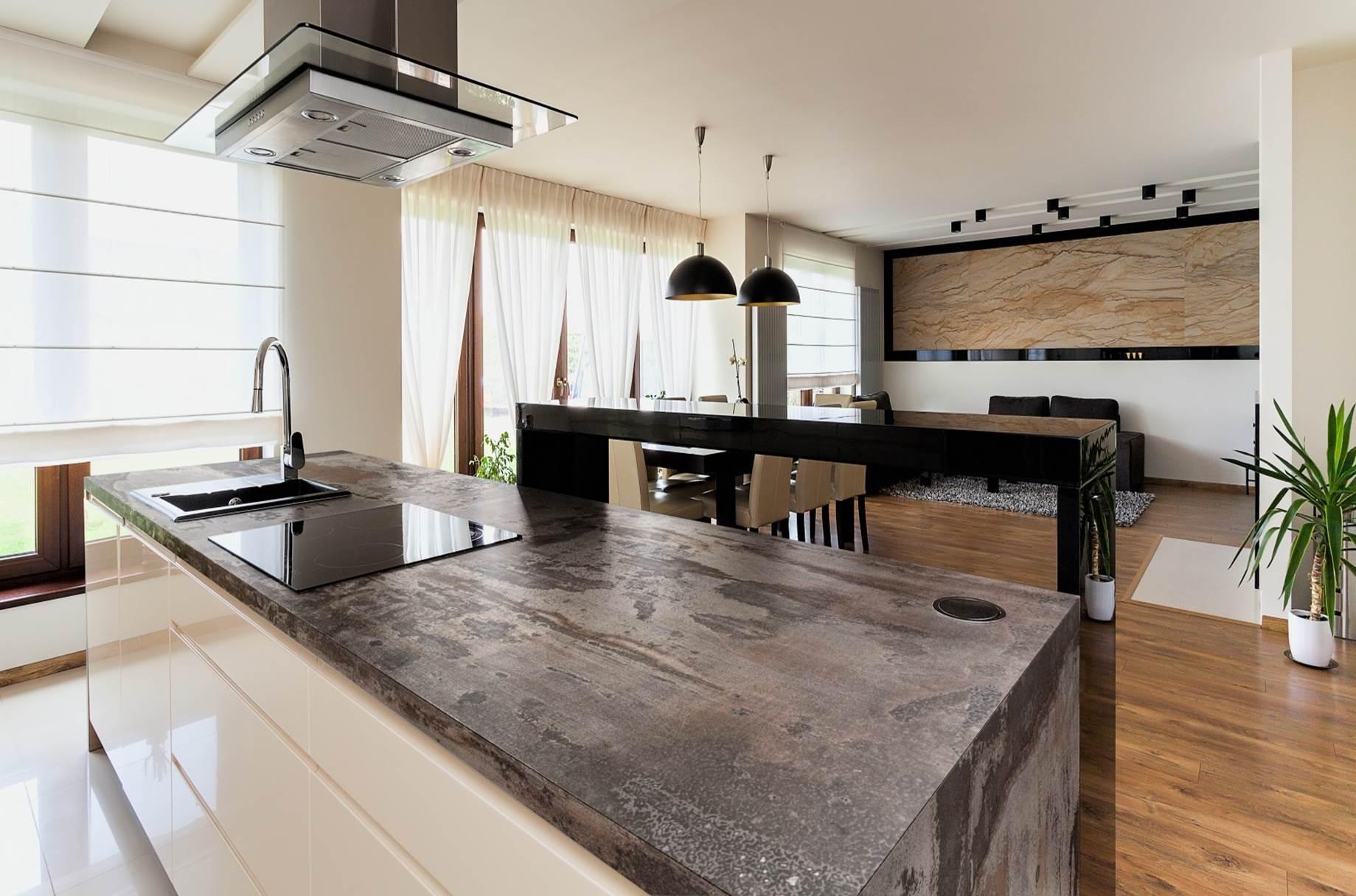 top cucina in dekton trilium