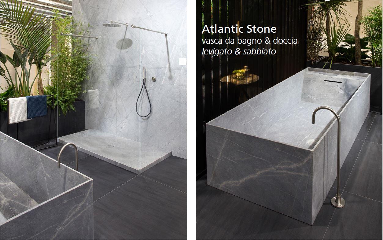 rivestimento e vasca da bagno in marmo